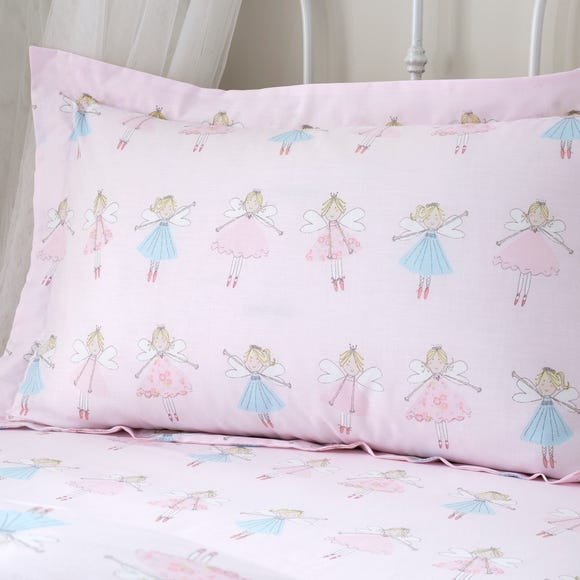 Fairies Pink Oxford Pillowcase Pink