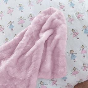 Faux Fur Pink Bedspread
