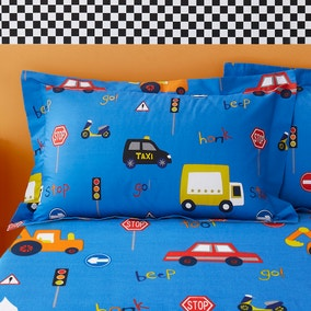 Transport Blue Oxford Pillowcase