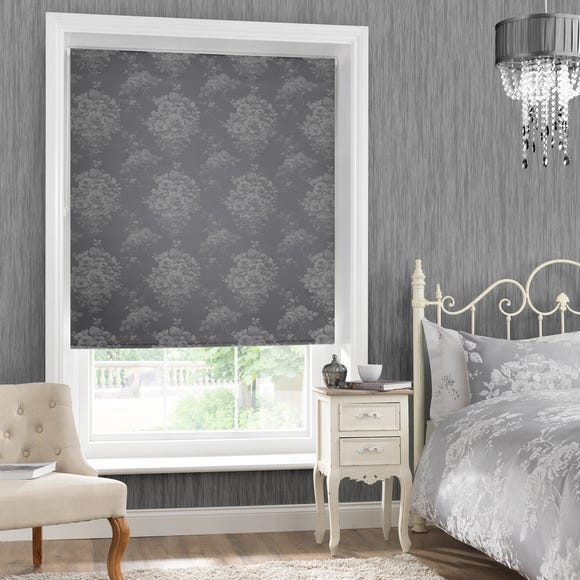 Laura Silver Blackout Roller Blind Silver undefined