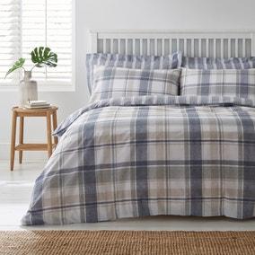 Harrison Blue Reversible Duvet Cover and Pillowcase Set