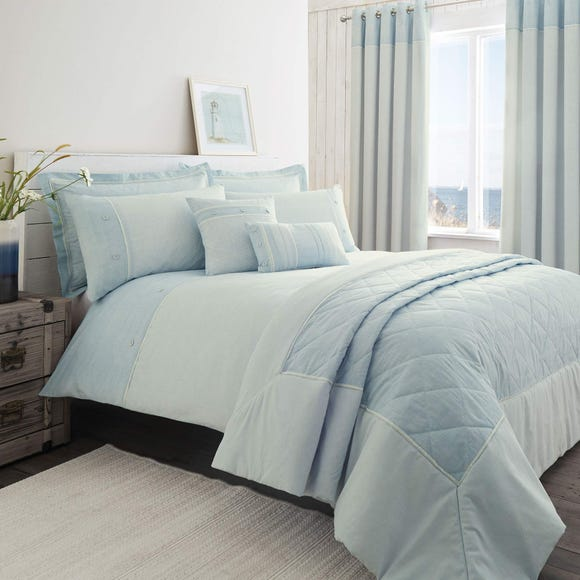 Millie Blue Duvet Cover and Pillowcase Set  undefined