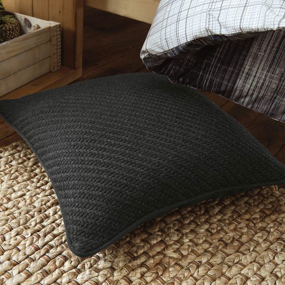 Harvey Charcoal Textured Cushion Charcoal