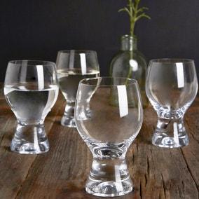 Set of 4 Chunky Wine Glasses