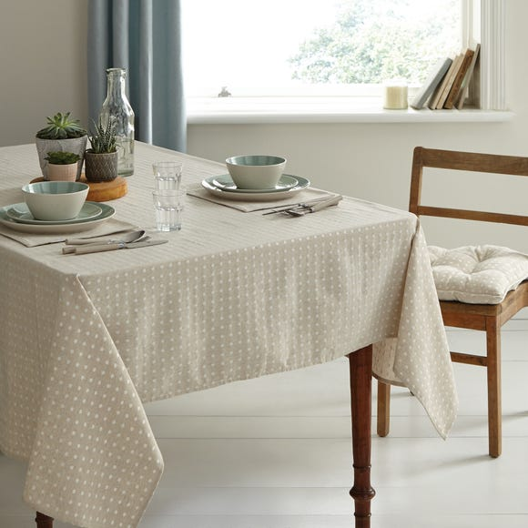 Linen Spot Tablecloth Natural undefined