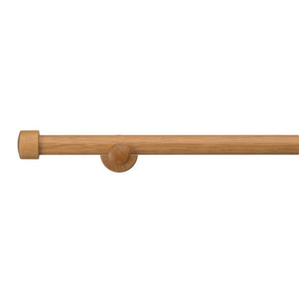 Trinity Wooden Eyelet Curtain Pole Dia. 28mm Mid Oak (Brown)