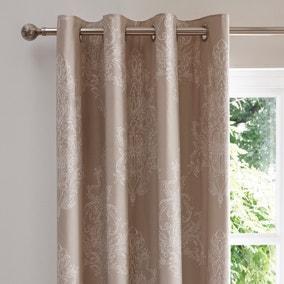 Versailles Natural Thermal Eyelet Curtains
