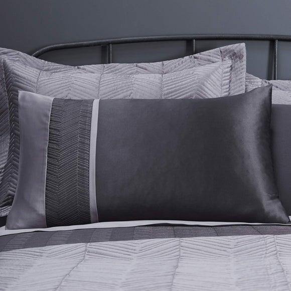 Owen Black Housewife Pillowcase | Dunelm