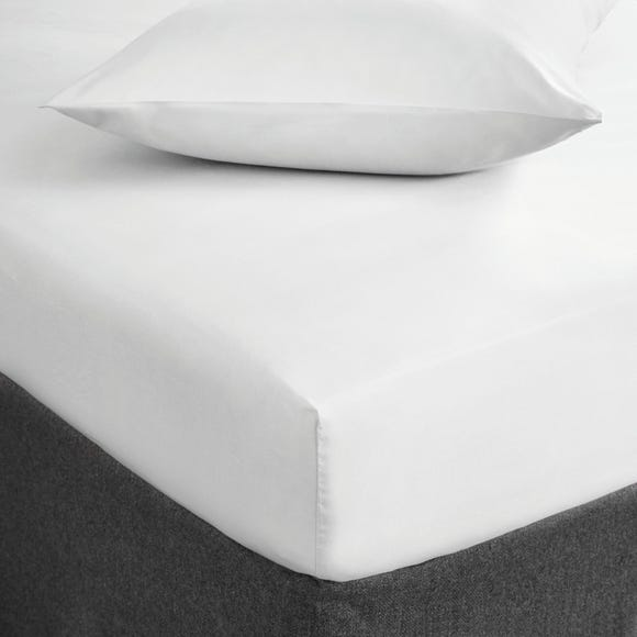 Fogarty Soft Touch Fitted Sheet White undefined
