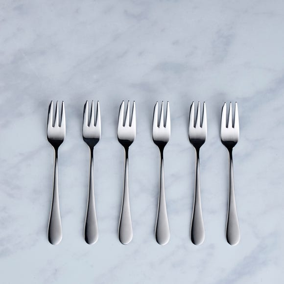 Viners Select 6 Pack Pastry Forks Grey