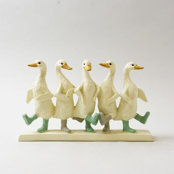 Dancing Ducks Ornament Cream