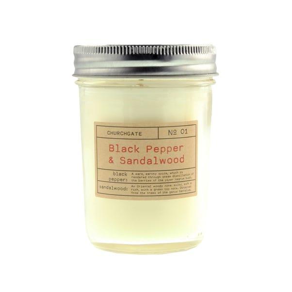 Churchgate Black Pepper and Sandalwood Fragranced Candle Cream