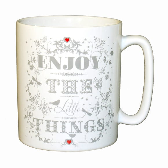 Enjoy the Little Things Pint Mug White