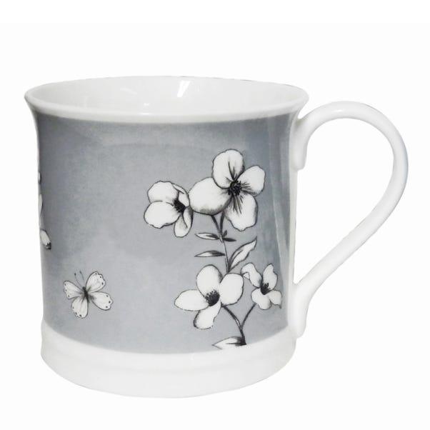Grey Botanical Devon Mug Grey
