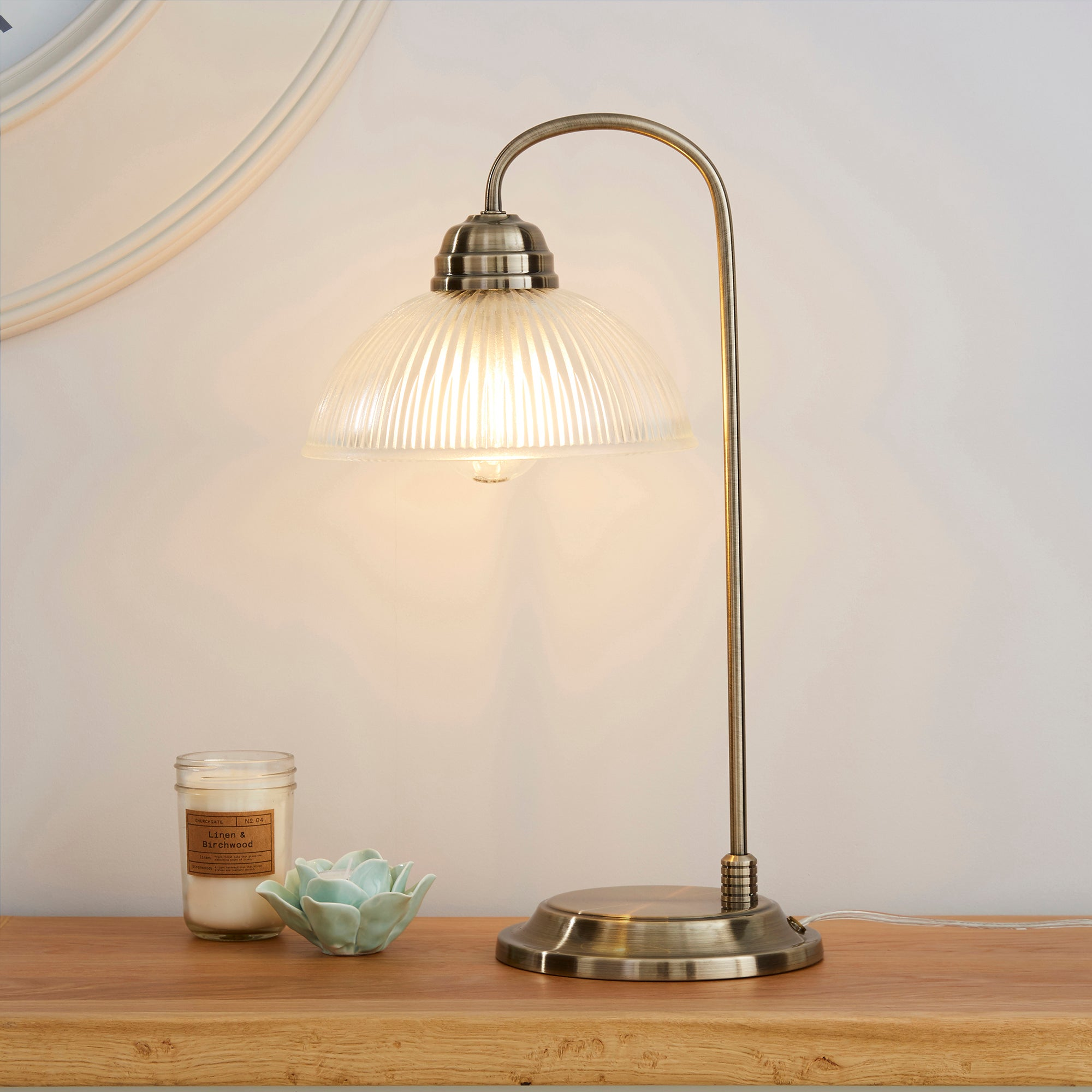 Henry Antique Brass Table Lamp Antique (Brass)