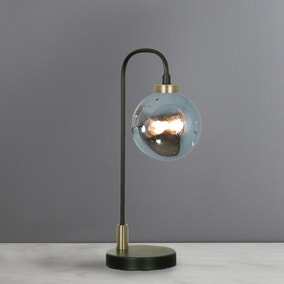 Tanner Black and Smoked Glass Table Lamp