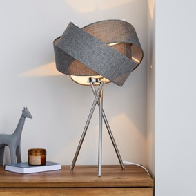 Elements Harley Grey Table Lamp