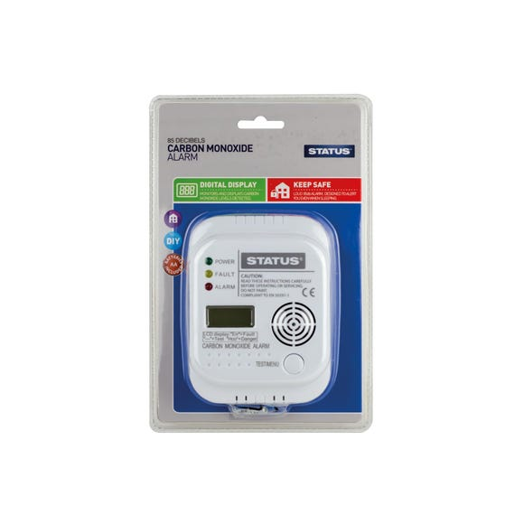 Status Digital Carbon Monoxide Alarm White