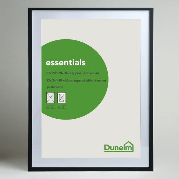 "Essentials Photo Frame 27"" x 20"" (70cm x 50cm) Black"