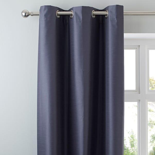 Nova Charcoal Blackout Eyelet Curtains  undefined