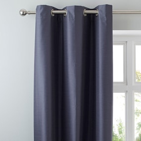 Nova Charcoal Blackout Eyelet Curtains