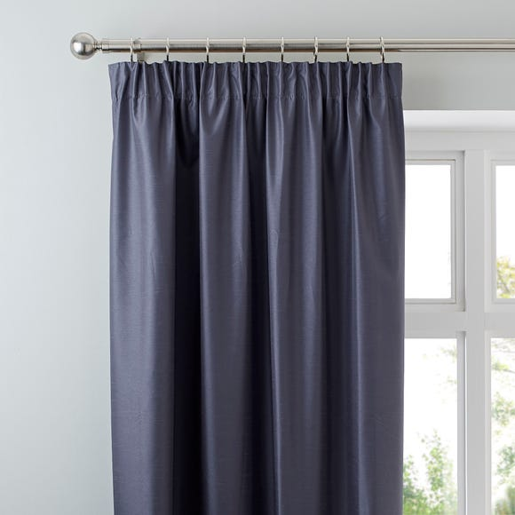 Nova Charcoal Blackout Pencil Pleat Curtains Charcoal undefined
