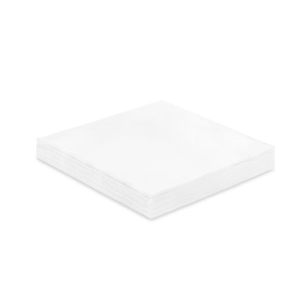 Pack of 20 White Linen Feel Paper Napkins White