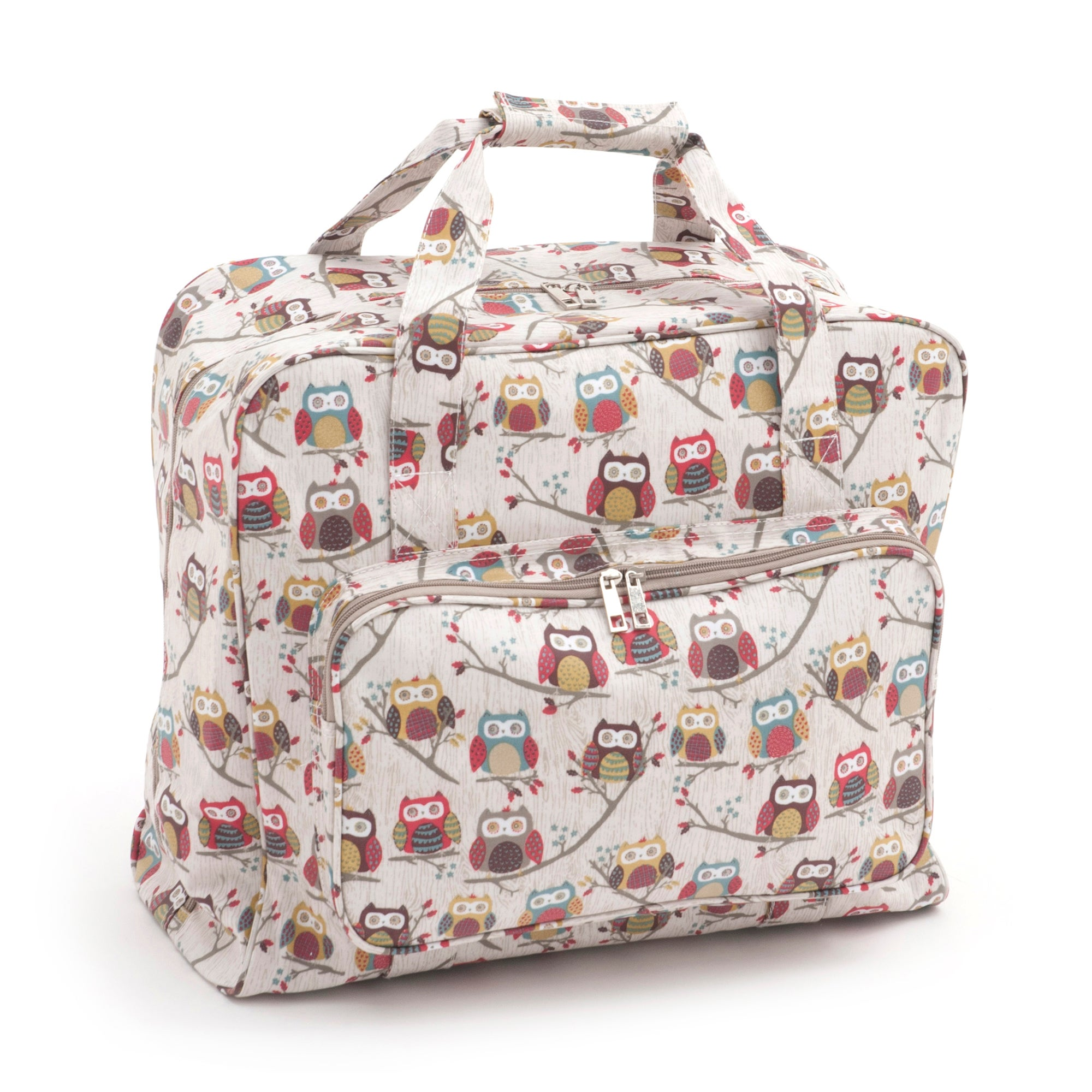 Hoot Sewing Machine Bag Pink/Yellow/Red
