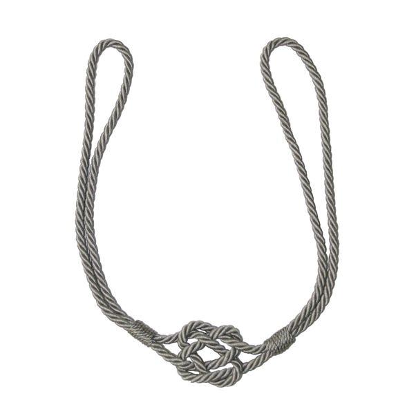 Platinum Knotted Rope Tieback