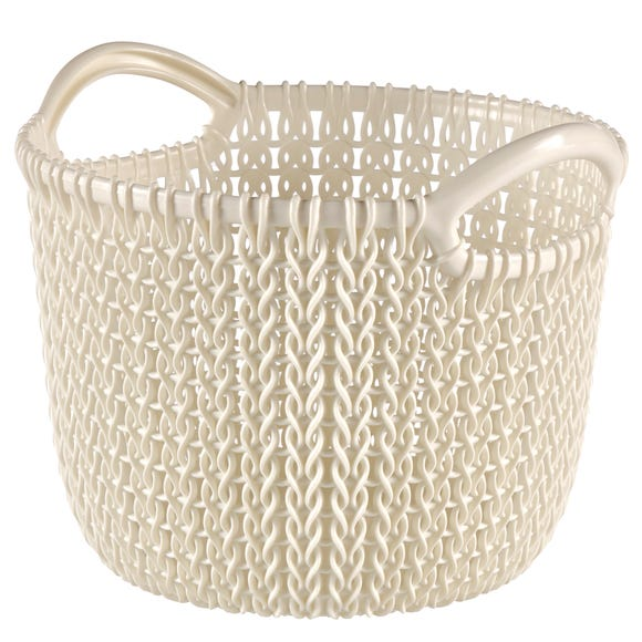 Curver Knit 3 Litre Round Basket White