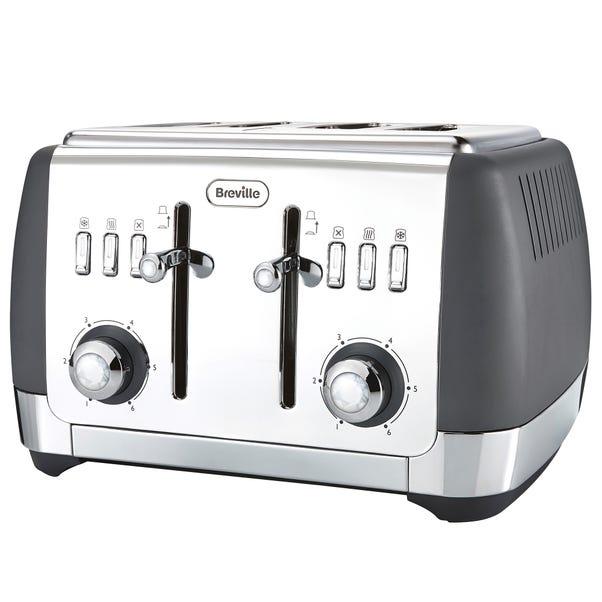 Breville VTT764 Strata Collection Grey 4 Slice Toaster Grey