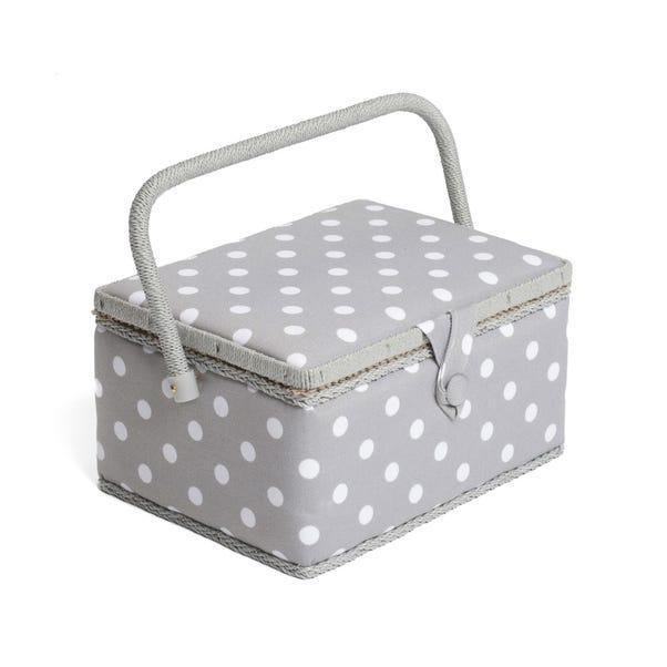 Dotty Grey Sewing Box