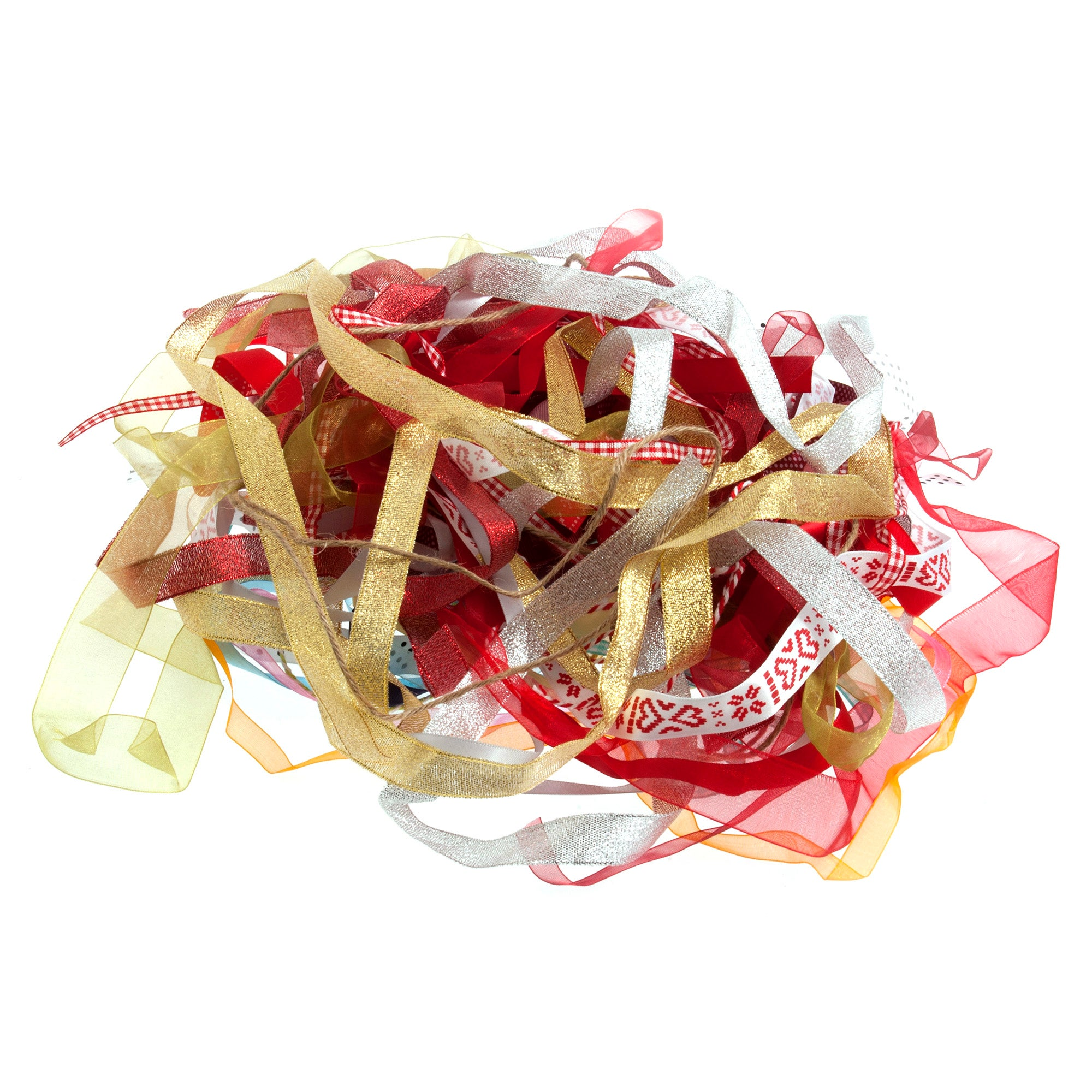 Photo of Mixed ribbon bag red