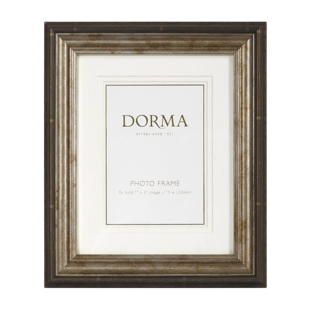 "Dorma Antique Photo Frame 7"" x 5"" (18cm x 12cm) Brown"