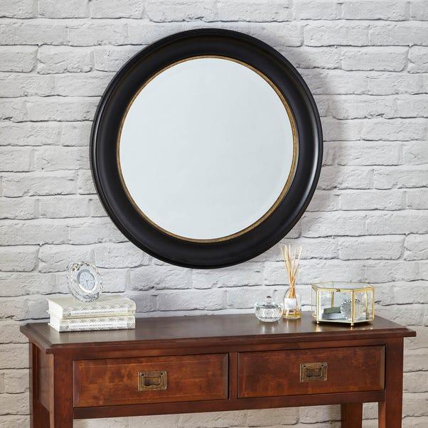 Dorma Antique Round Wall Mirror 70cm Black Black