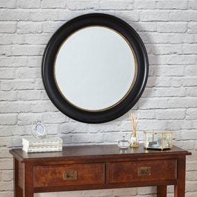 Dorma Antique Round Wall Mirror 70cm Black
