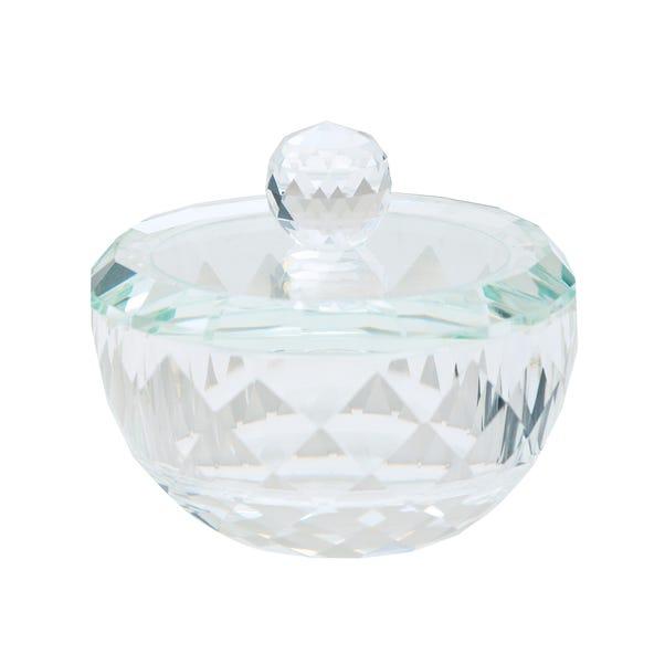 Dorma Cut Glass Trinket Box Clear