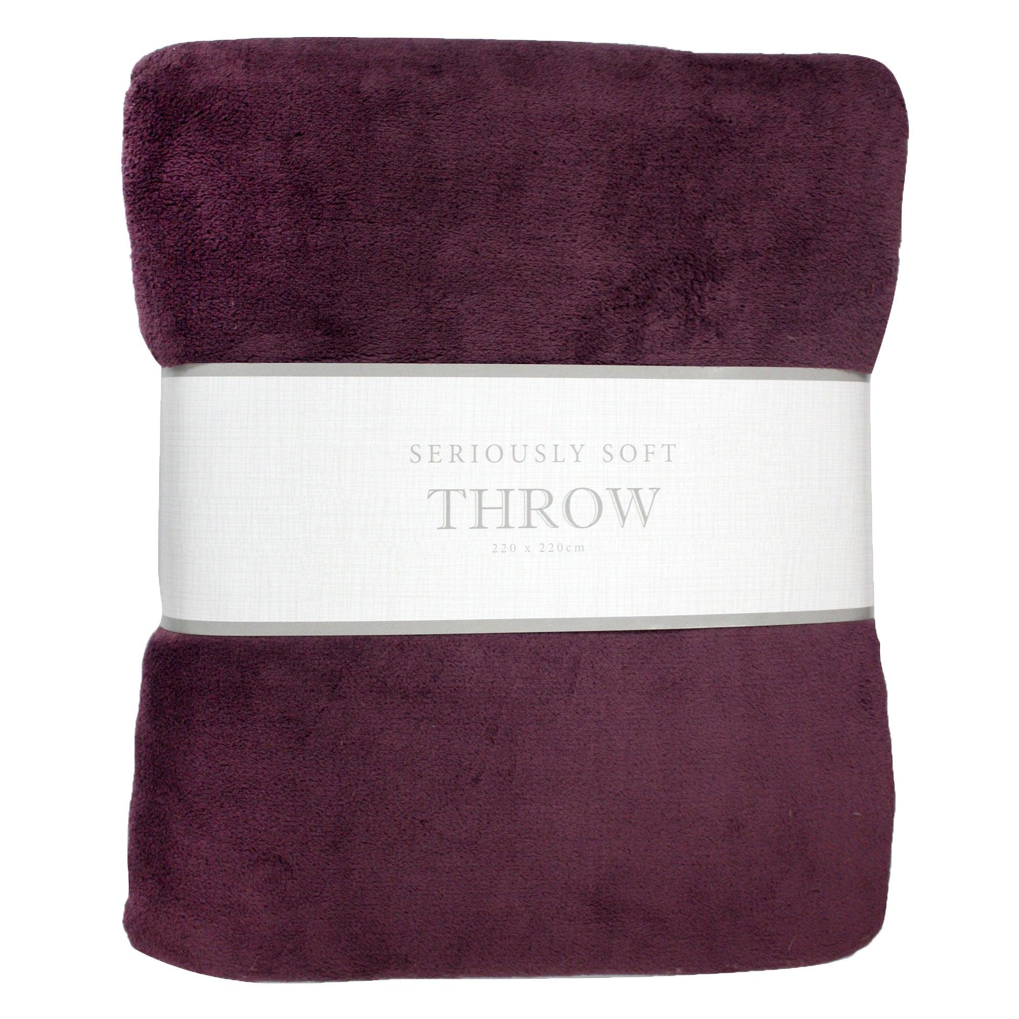 Photo of Seriously soft wine throw plum -purple-