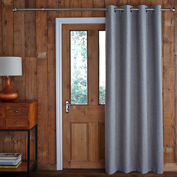 Jennings Grey Thermal Door Curtain Grey undefined