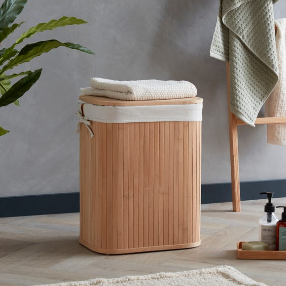 Woodford Bamboo Laundry Basket Brown undefined
