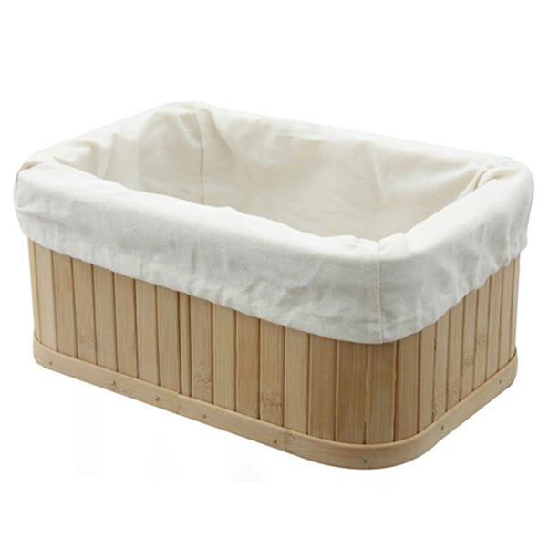 Woodford Rectangular Bamboo Storage Basket  undefined