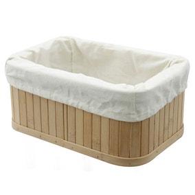 Woodford Rectangular Bamboo Storage Basket