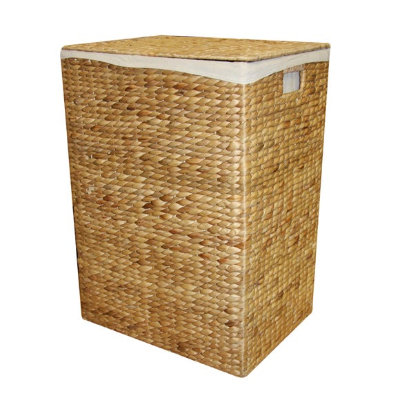 Hyacinth Rectangle Laundry Basket Natural (Brown) undefined
