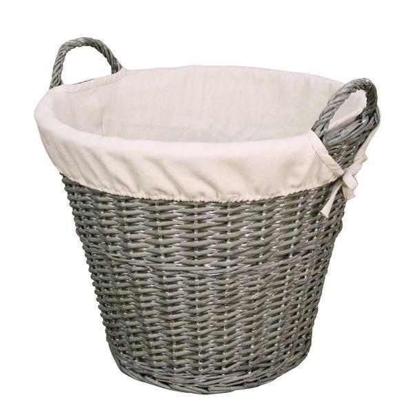 Versailles Large Wicker Basket Grey