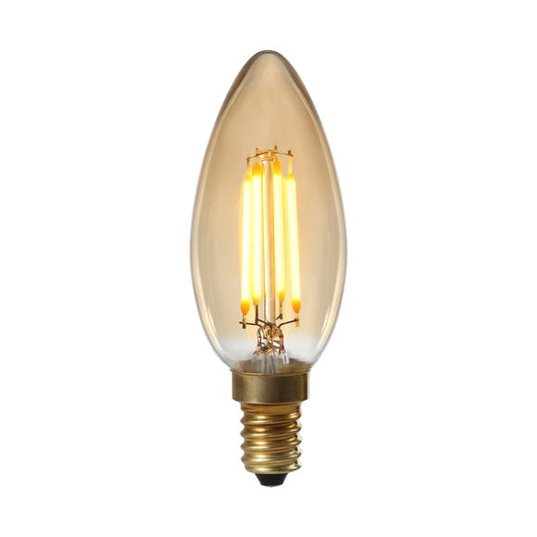 Albert 4 Watt SES Dimmable LED Retro Candle Bulb Light Brown