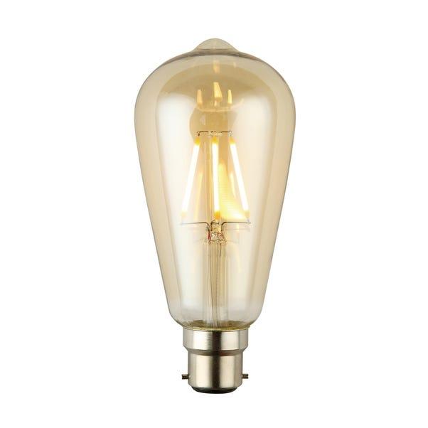 Arthur 4 Watt BC ST64 LED Retro Dimmable Decorative Bulb Light Brown