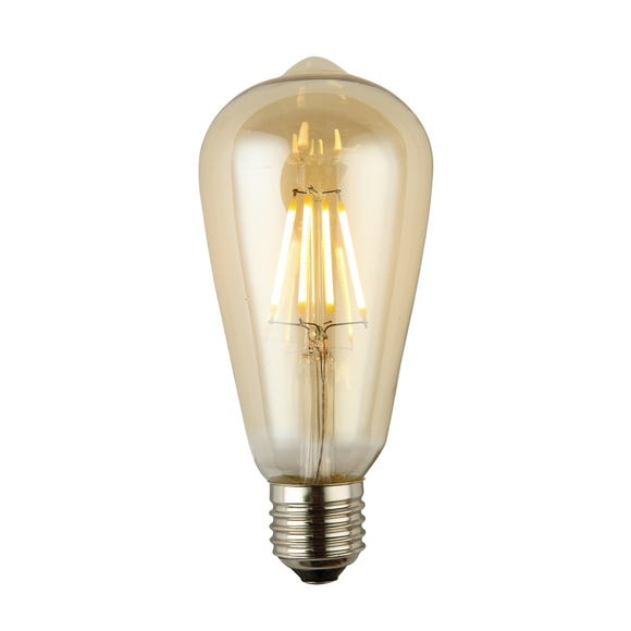 Arthur 4 Watt ES ST64 LED Retro Dimmable Decorative Bulb Light Brown