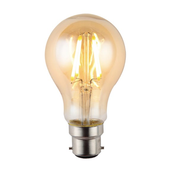 Ted 4 Watt GLS LED BC Dimmable Retro Bulb Light Brown