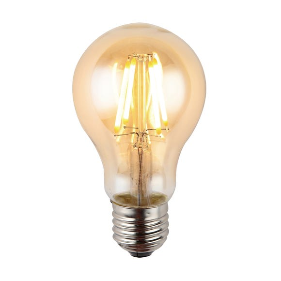 Ted 4 Watt GLS LED ES Dimmable Retro Bulb Light Brown