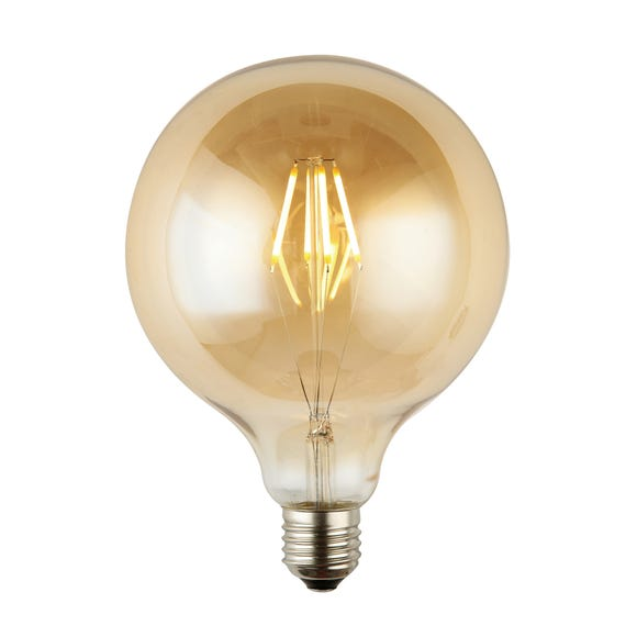Henry 4 Watt ES G125 LED Dimmable Retro Globe Bulb Light Brown